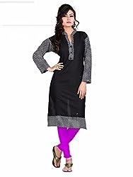 new arrive Design Designer Womens Cotton Unstitched Kurti (Jay khodal Enterprise_cotton_20-A- Black Cheks)