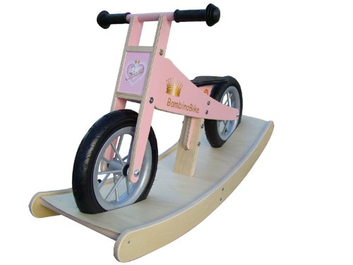 BambinoBike girl push bikes Children with rocker pink