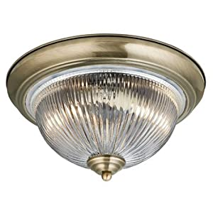 Traditional Antique Brass IP44 Bathroom Ceiling Light -4370 from Searchlight