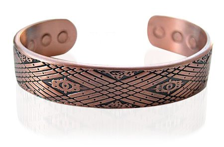Mens 14 MM Magnetic Copper Cuff Bracelet 7.5″ Long