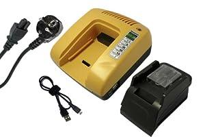 PowerSmart® 14,4V Ladegerät für Makita DF-445D, DF-44-DRH, DF-445-DSHX, LXRU-01, DF445D, DF445DRH, DF445DSHX, LXRU01, MR050, TD135D, TD135DRH, TD135DSHX, BL1415, BL-1415 (Gelb)