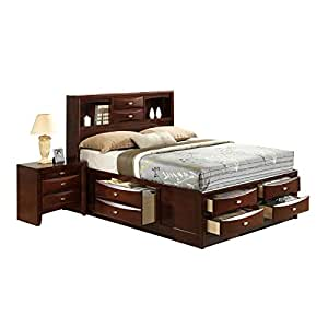 Global furniture linda bed king new merlot for Bedroom furniture amazon
