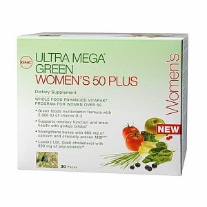Gnc Ultra Mega Green Women'S 50 Plus Vitapak 30 Packs