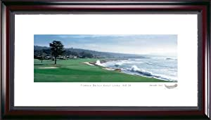Pebble Beach 7th Hole Framed Golf Picture by Stonehouse Golf