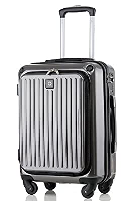 Travelhouse Hard Cabin Travel Hand Luggage Lightweight ABS Hard Shell Trolley Bags Suitcases Luggage set Holdall Grey