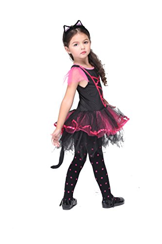 NonEcho Halloween Costumes for Kids Girls Cat Child Costume