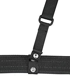 Uncle Mike\'s Nylon Web Duty Suspenders (Small/Medium, Black)