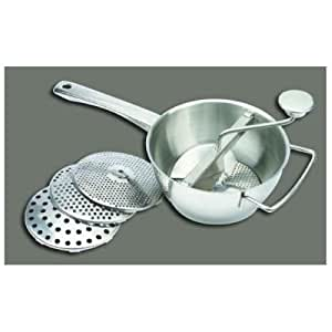 WINWARE Stainless Steel Vegetable Mill, 2 Quart -- 1 set.