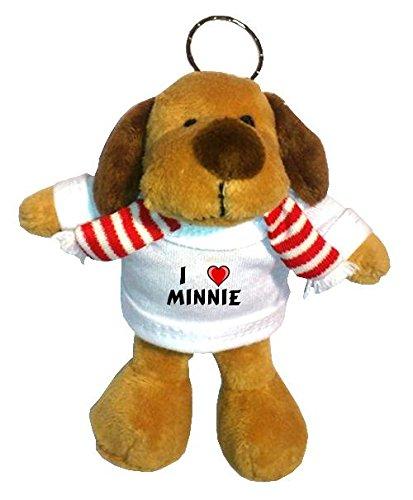 Perro-de-peluche-llavero-con-Amo-Minnie-en-la-camiseta-nombre-de-pilaapellidoapodo