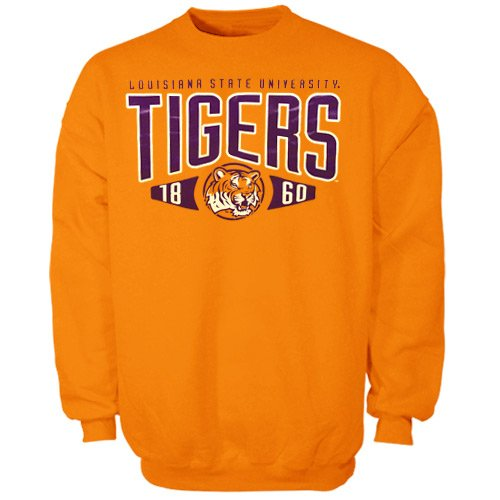 NCAA LSU Tigers Apex Pullover Sweatshirt - Gold (XXXX-Large) at Amazon.com