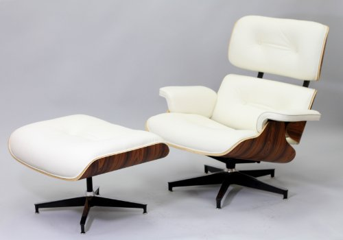 lexmod eaze lounge chair in white leather and palisander wood review