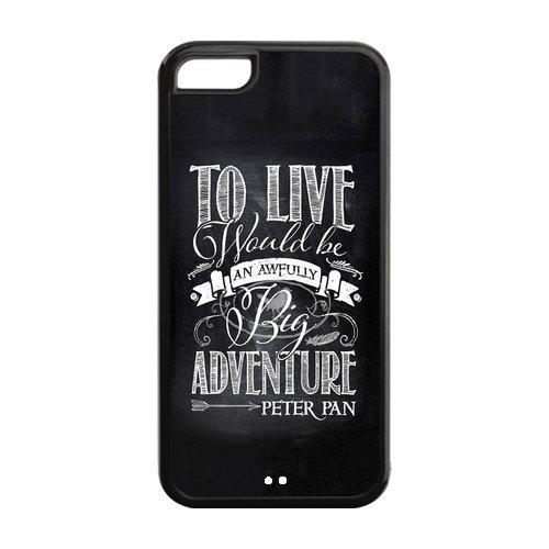 high-quality-customizable-durable-rubber-material-peter-pan-quotes-never-grow-up-iphone-5c-back-cove