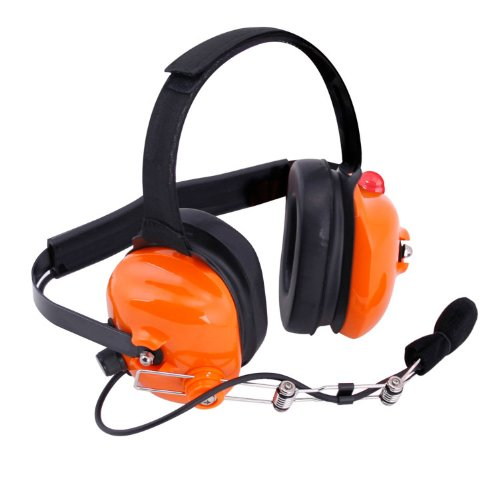 H42 Orange Racing Radios Electronics 2 Way Headset Nascar Crew Chief Bth