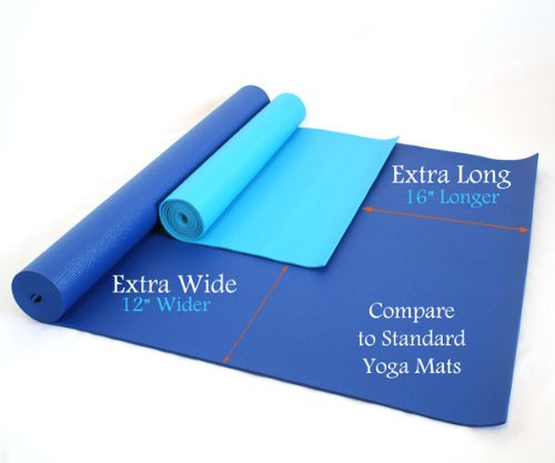 """84"""" X 36"""" X 1/4"""" Extra Wide, Extra Long, Extra Thick Blue"""