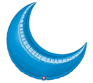 "Blue Moon Balloon, 26"" Crescent Moon Shaped Balloon"