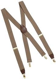 Dockers Men\'s Solid Suspenders, Khaki, One Size