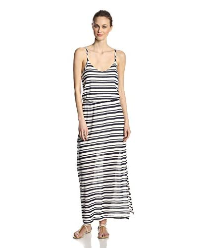 Splendid Women's Marina Eyelet Tank Stripe  Maxi Dress