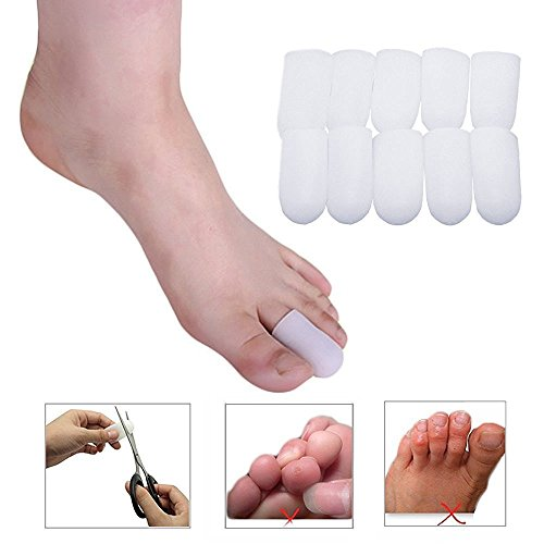 Toe Protectors Toe Caps Bunion Toe Pads, Gel Toe Separators, Toe Sleeves - Foot Corn Remover & Blisters Callus Bunion Relief (5 Pairs Small Sizes) (Foot Corns compare prices)