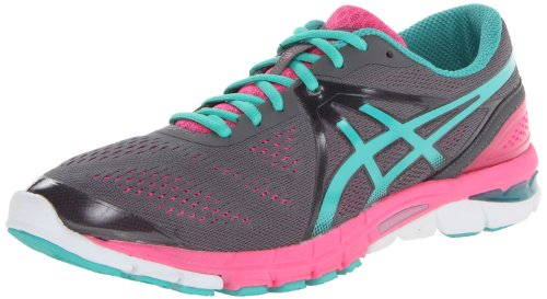ASICS Women's Gel-Excel33-3 Running Shoe,Charcoal/Emerald/Hot Pink,8 M US
