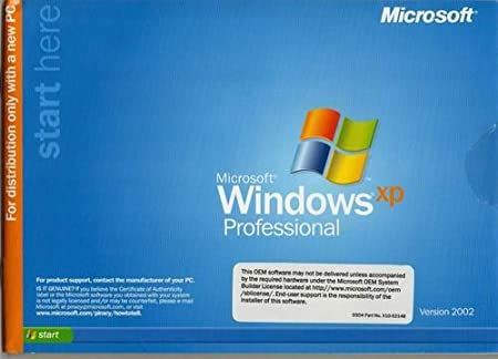 Microsoft Windows XP Professional SP3 Full Version System Builder Pack