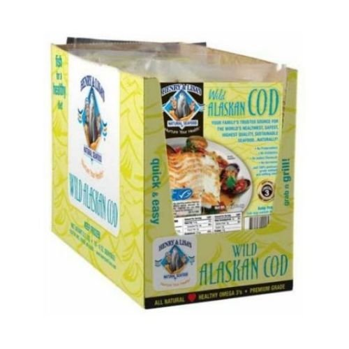 Henry and Lisas Grab N Go Wild Alaskan Cod, 4 Ounce -- 10 per case. (Canned Cod Fish compare prices)