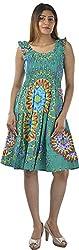 HotShot Women's Cotton Round Neck Dress (RH025, X-Large)