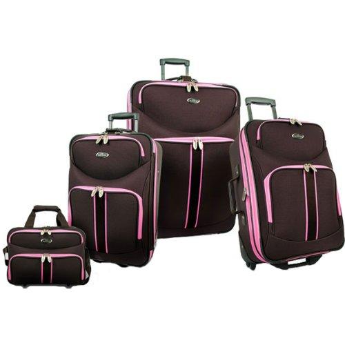U.S. Traveler San Marino 4-Piece Luggage Set Luggage Sets