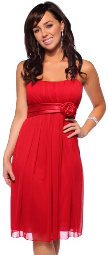 Womens Designer Flowy Pleated Evening Prom Cocktail
