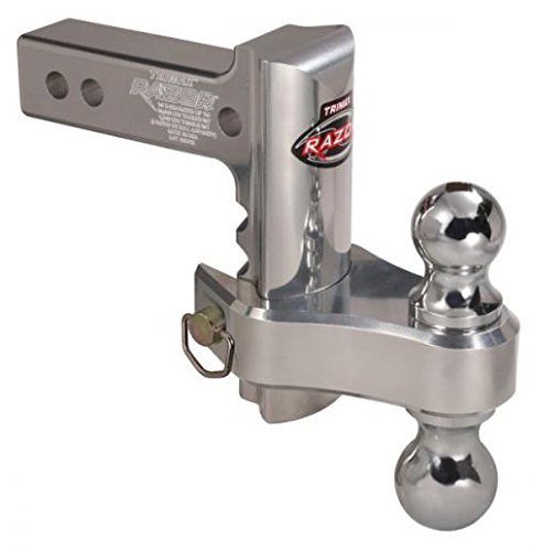 "Check Out This Trimax TRZ6ALRP 6"" Aluminum Adjustable Hitch with Dual Hitch Ball and Receiver A..."
