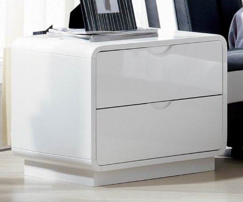 2 High gloss Night stand white