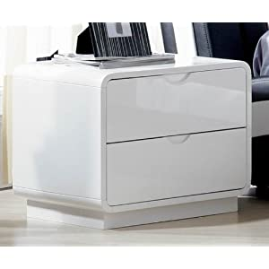High Gloss Night Stand White Best Buy Childrens Bedroom Furniture