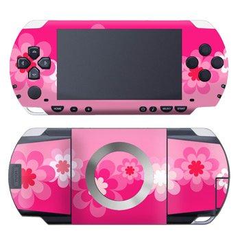 PSP Skin Slim & Lite - Retro Pink Flowers