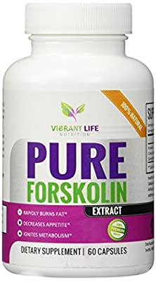 Pure Forskolin Extract - Lose Fat Fast - Belly Buster - Slims + Tones - Suppresses Appetite - Ignites Metabolism - 100% All-Natural Zero Fillers or Additives