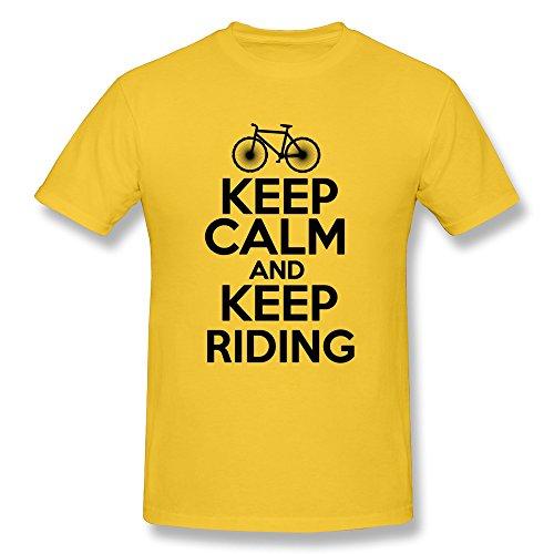 Qmy Men'S Movie Kc Riding T-Shirts Size Xxl Yellow
