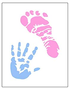 Faux Like a Pro Baby Hand and Foot Prints Stencil, 5.5 by 7-Inch, Single Overlay