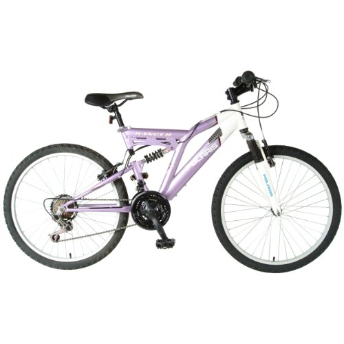 Polaris Girl's Ranger Mountain Bike (Purple/White, 24 X 17-Inch)