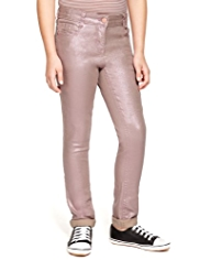 Cotton Rich Sparkle Effect Jeans