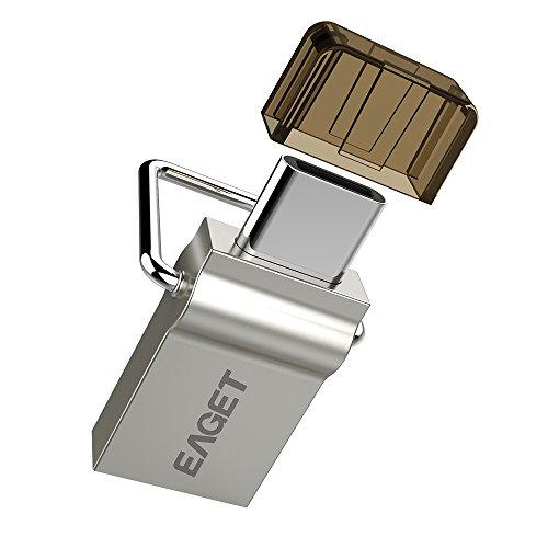 EAGET CU10 16GB Type C 3.1 USBメモリ 3.0 OTG フラッシュドライブ MacBook 12inch 2015 ZUK Z1 MI 4C Nokia N1 Nexus5x等に対応可