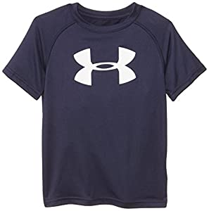 Under Armour Little Boys' Big Logo Short Sleeve Tee, Midnight Navy, 4T