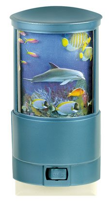 Rotating Coral Reef Nightlight Ocean Home Decor Accent Bathroom Bedroom