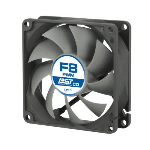 ARCTIC F8 PWM PST CO - 80mm Dual Ball Bearing Low Noise PWM Standard Case Fan with PST Feature - Ideal for Systems running 24/7 (Corsair 80mm Fan compare prices)