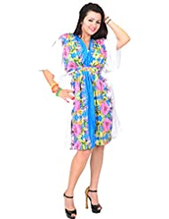 Hawaiian print dress plus size