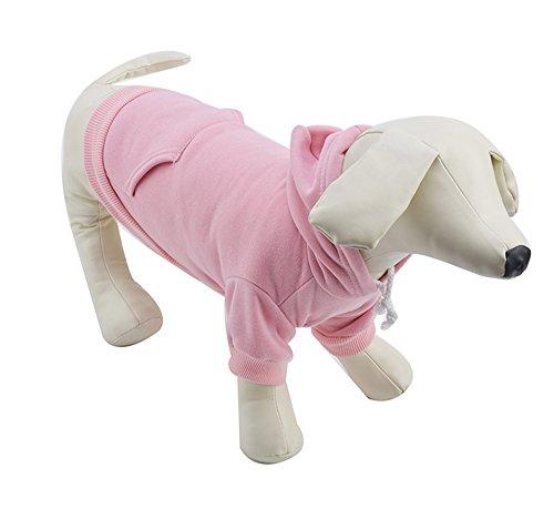 [EXPAWLORER Pet Pink XXXL Dog Fleece Coat Sweater Jumpsuit Puppy Cat Hoodie Sweatshirt Clothes Apparel with] (Weenie Costumes)
