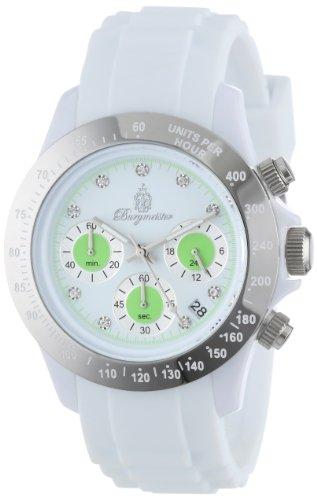 Burgmeister Women's Quartz Watch with White Dial Analogue Display and White Bracelet BM514-586A