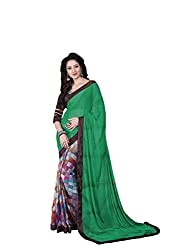 Vishal Multicolor Chiffon & Jacuard Saree with blouse piece