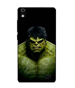 Case Cover Hulk Printed Black Soft Back Cover For LYF WATER 6