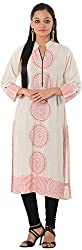 Kaashvi Creations Women's Cotton Straight Kurta (99901000000056-Xl, Red, X-Large)