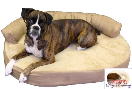 Medium Orthopedic Memory Foam Joint Relief Bolster Dog Bed - Toffee