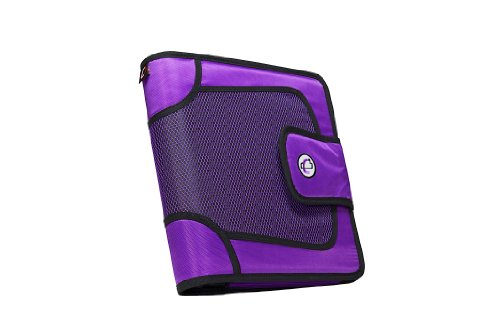 Case-it Velcro Closure 2-Inch Ring Binder with Tab File, Purple (S-815-PUR)