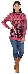 Broche Women's Regular Fit Top (16504_DarkPink--XL, Pink, X-Large)